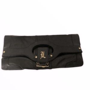 L.A.M.B. lamb Gwen stefani leather clutch bag
